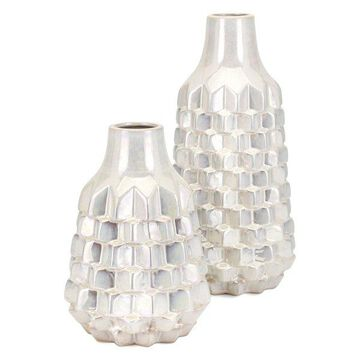 IMAX Home 15244-2 Karina Two Piece Ceramic Vase Set