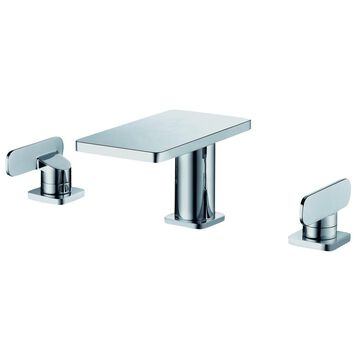 ALFI Brand Chrome 2-handle 8-inch Widespread Bathroom Faucet