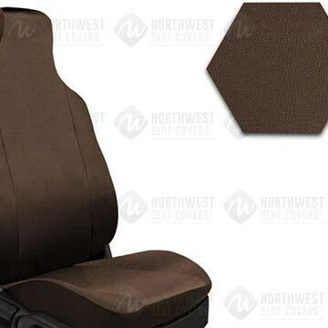 NorthWest Form Fit Seat Covers, 5th-Row Seat Covers in Dark Saddle, B0