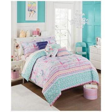 Waverly Kids La La Llama Reversible Full Comforter Set, 3 Piece Bedding