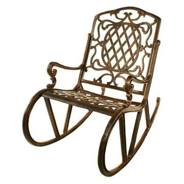 Oakland Living Mississippi Rocking Chair, Antique Bronze