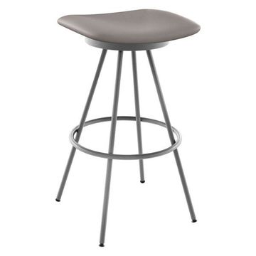 Beacon Swivel Stool, Base: Magnetite/Glossy Gray, Seat Cold Gray, Counter Height