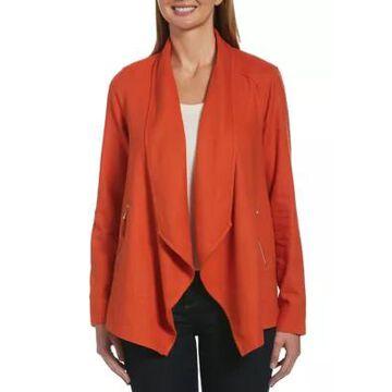 Rafaella Women's Long Sleeve Drape Front Jacket -