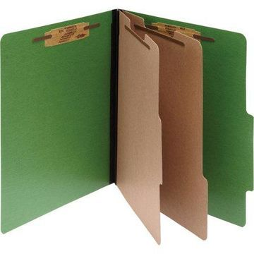 Acco, ACC15665, Color Coded Top Tab Fastener Folders, 10 / Box, Dark Green