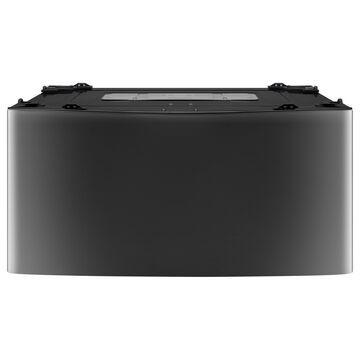 LG WD100CK 1.0 cu. ft. LG SideKick Pedestal Washer, LG TWINWash Compatible in Black Stainless Steel