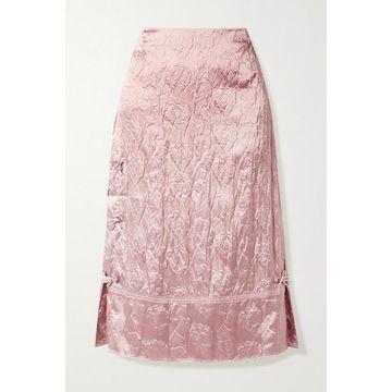 Acne Studios - Cloque Midi Skirt - Blush