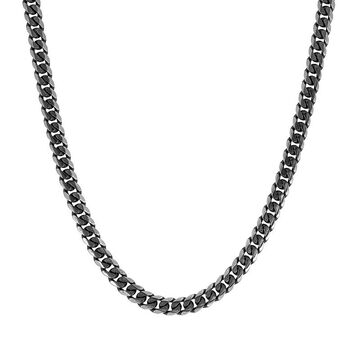 """Men's LYNX Stainless Steel Curb Chain Necklace - 24 in., Size: 24"""", Silver"""
