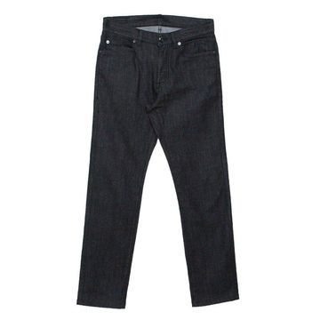 Z Zegna Dark Grey Straight Fit Denim Jeans S