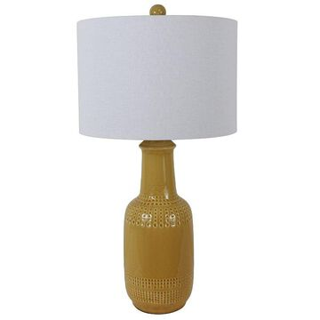 Decor Therapy Patterned Ceramic Table Lamp, Brown