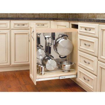 Rev-A-Shelf 8-in W x 25.5-in 1-Tier Wood Cabinet Shelf