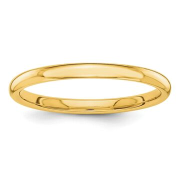 Versil 14 Karat Yellow Gold Polished 2mm Band