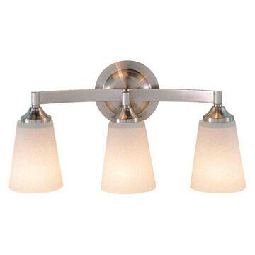Feiss 3-Light Brushed Steel Vanity Fixture
