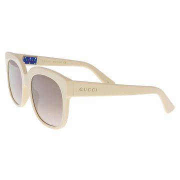Gucci GG0361S 001 Ivory Square Sunglasses - 56-20-140