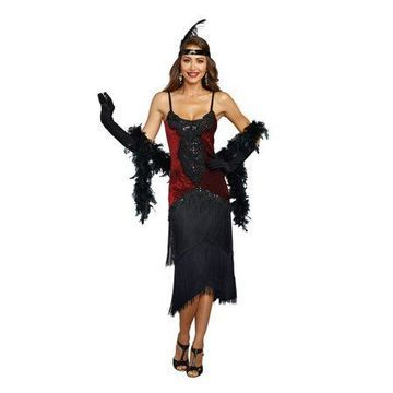 Dreamgirl Women's Luxe Million Dollar Baby Flapper Costume Dress