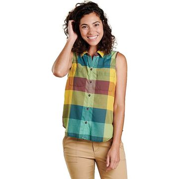 Toad & Co Women's Airbrush SL Deco Shirt - Large - Giant Multi Check
