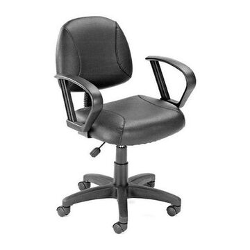 Boss B307 Boss Black Posture Chair With Loop Arms