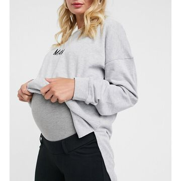 Mamalicious Maternity over the bump jersey pants in black