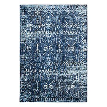 Rizzy Home Panache Transitional Scrollwork Trellis Rug, Dark Blue, 3X5 Ft