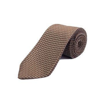 Ermenegildo Zegna Men's Silk Pattern Tie Brown - No Size