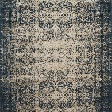 Loloi Rugs Journey Collection Indigo and Beige, 12'x15'