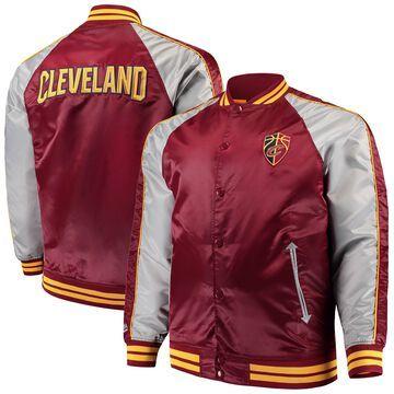 Men's Majestic Wine Cleveland Cavaliers Big & Tall Lightweight Satin Full-Snap Jacket