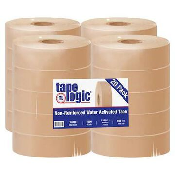 Tape Logic #5000 Non Reinforced Water Activated Tape, 1 1/2 x 500, Kraft, 20/Case (T155000) | Quill