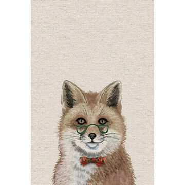 Marmont Hill - Handmade I Am a Smart Fox Print on Wrapped Canvas