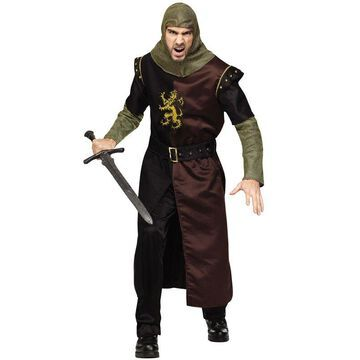 Fun World Classic Valiant Knight Adult Costume-Standard