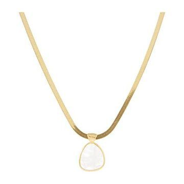 Chan Luu Layering Chain with Moonstone Pendant Necklace