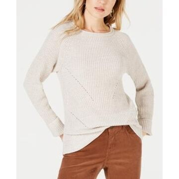 Style & Co Plus Size Marl Pointelle Cuffed Sweater, Created For Macy's