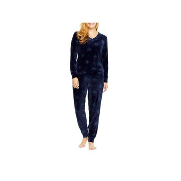Gloria Vanderbilt Womens Pant Pajama Set 2-pc. Long Sleeve