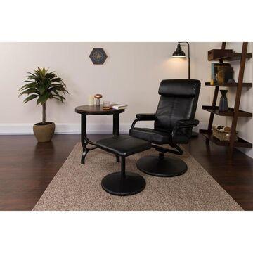 Flash Furniture Black Faux Leather Recliner