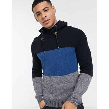 Esprit waffle hoody sweater in navy