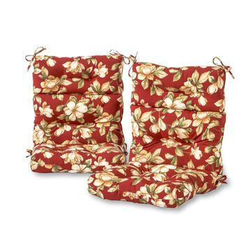 Greendale Home Fashions 2-Piece Roma Floral High Back Patio Chair Cushion Polyester | OC6809S2-ROMAFLORAL