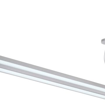 Lite Source Duena Nickel/Polished Industrial Rectangle Integrated LED Mini Pendant Light | LS-19796SILV