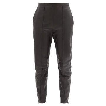 Isabel Marant - Bleeta Tapered Leather Trousers - Womens - Black