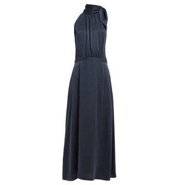 Zimmermann - Tie Neck Silk Dress - Womens - Navy