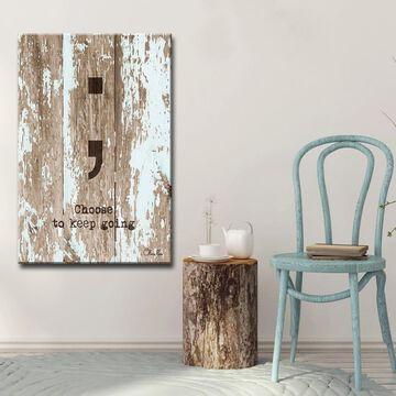 Ready2HangArt 'Keep Going' Inspirational Canvas Art - Brown
