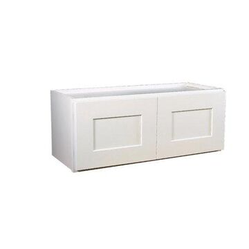 Design House 569236 Brookings Fully Assembled Shaker Bridge Wall Kitchen Cabinet 24x12x12, White