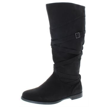 Easy Street Womens Faux Leather Tall Knee-High Boots