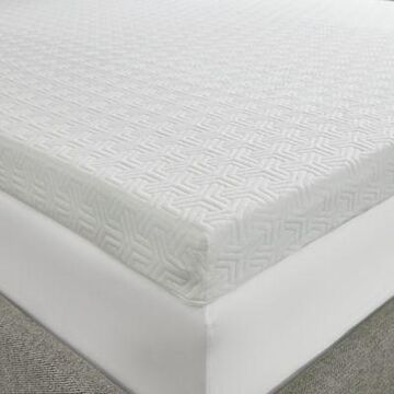 Sleep Philosophy Flexapedic 3-Inch Memory Foam Queen Mattress Topper in White