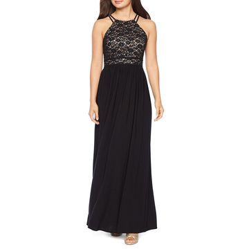 R & M Richards Sleeveless Evening Gown