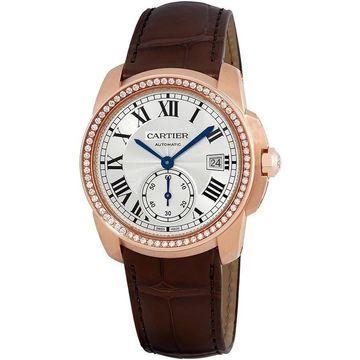Cartier Men's WF100013 'Calibre De Cartier' Brown Leather Watch