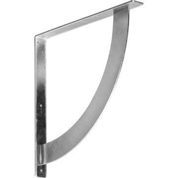 Ekena Millwork Bulwark 20-in x 2-in x 20-in Plain Steel Countertop Support Bracket
