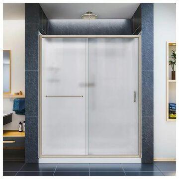 Dreamline Brushed Nickel Frosted Glass, Sliding Door