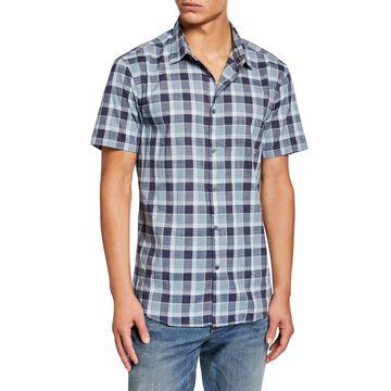 Men's Check Short-Sleeve Sport Shirt