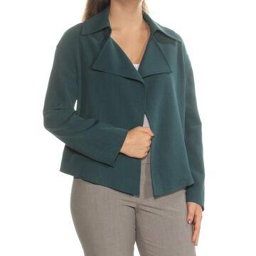 ANNE KLEIN Womens Teal Blazer Wear To Work Jacket Size: 10