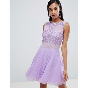 AX Paris tulle skater dress with embellished detail