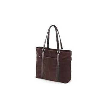 Mobile Edge METL08 Ultra Suede Computer Tote for 15.6-inch Notebooks - Chocolate Brown