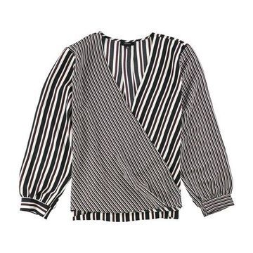Alfani Womens Shadow Stripped Pullover Blouse